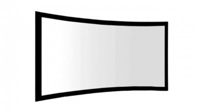 Fixed Frame Curved 16:9 American White Black 92
